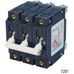 AC C-Series Triple Pole Circuit Breakers, 50A AC