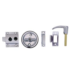 Flush Cup Rim Latch Set with Flush or Box Strike