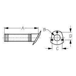 Angled Flush Mount Rod Holder - All Plastic
