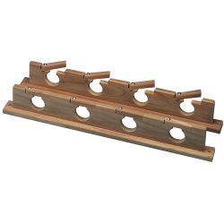 Teak Lock-In Four Rod Storage Rack