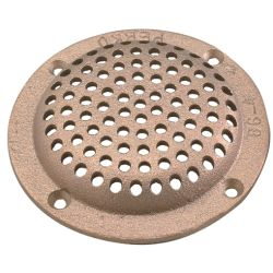 6IN BRZ RND STRAINER