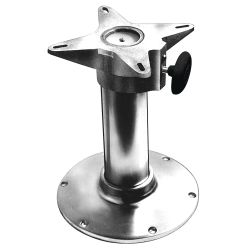 24IN POLISHED ALU SEAT BASE SMOOTH
