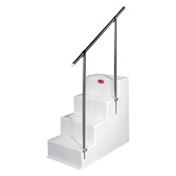 Quad Step Boarding Stairs With Handrail