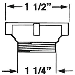 """1-1/2"""" to 1-1/4"""" Adapter"""