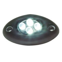 BLACK SURFACE LIGHT 4 PURPLE LED