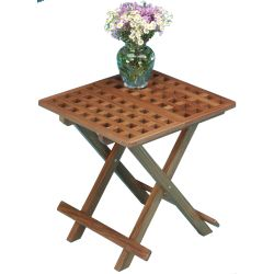 FOLD-AWAY TABLE-GRATE TOP