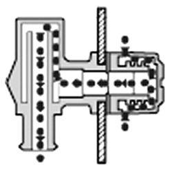 90° P-Trap Fuel Tank Vent