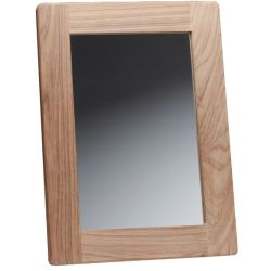 RECTANGULAR MIRROR, TEAK, 11INX15IN