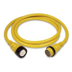 50 Amp 125/250V Power Cord Plus Cordsets - Yellow