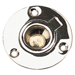 CHROME BRASS RING PULL ROUND 2IN