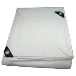 18FT X 24FT WHITE HEAVY POLY TARP