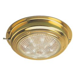 BRASS LED DOME LIGHT, 4IN LENS