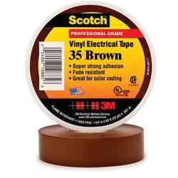 1/2IN BRN VYL ELECTRICAL TAPE #35 (20FT)