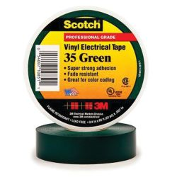 3/4IN GRN VYL ELECTRICAL TAPE #35 (66FT)