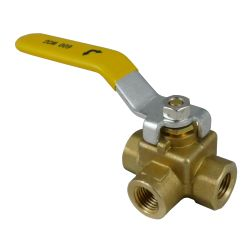 3/4IN NPT BRS 3 WAY BALL VALVE