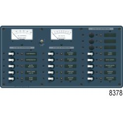 12V A SERIES PANEL 15 POS VOLT/AMMETER