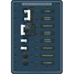 2 Sources Selector/AC Main + 17 Positions Circuit Breaker Panel
