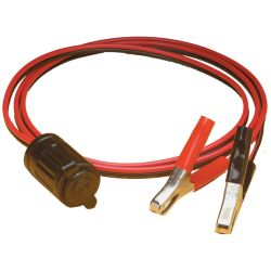 12V SEALINK RECEPTACLE W/ALLIGATOR CLIP
