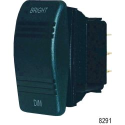 SPDT BLK CONTURA DIMMER (ON)/OFF/(ON)