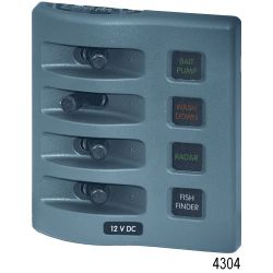 12V GRY WEATHERDECK FUSE PANEL 4 POS
