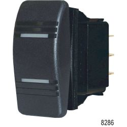Contura Rocker Switch, Black (SPDT) - Action (ON) - OFF - ON