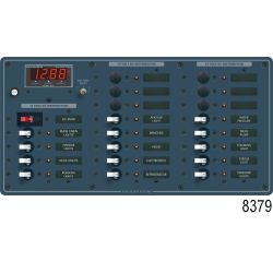 DC Main + 22 Position Circuit Breaker Panel