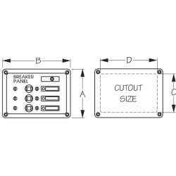 AC⁄DC Accessory Panel 3 Circuit
