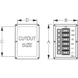 4 & 6 Rocker Switch DC Fuse Panels
