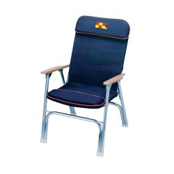NAVY BLU PADDED DECK CHAIR
