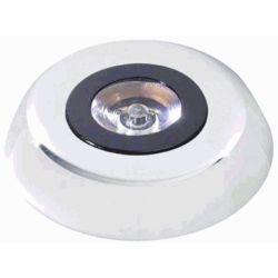 3IN ROUND SILVER LIGHT 3WATT 1 LED