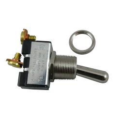 SPST BRS/CHR TOGGLE SWITCH ON/OFF