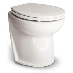 "Deluxe Flush Electric Toilet - 17"" Seat, Angled Back"