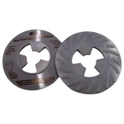5IN RED XHARD RIBBED DISC PAD FACE PLATE