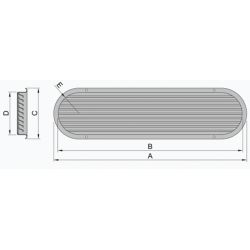 Louvered Engine Room Air Vent Vetus Fisheries Supply