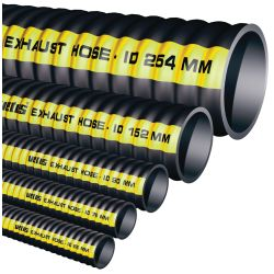 RUBBER EXHAUST HOSE 8IN