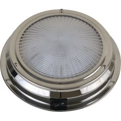 "Scandvik 6-3/4"" Stainless Steel LED Dome Light"