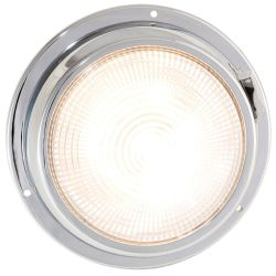 5.5IN LED DOME LIGHT CHRM 2 LVL WHT