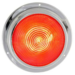 5.5IN LED DOME LIGHT CHRM RED/WHITE