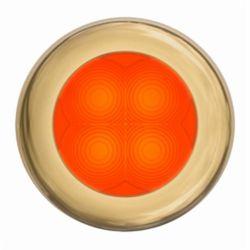 SlimLine LED Round Lamp - Orange Lamp, Gold Trim