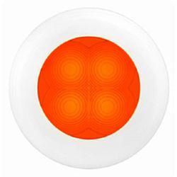 SlimLine LED Round Lamp - Orange Lamp, White Trim