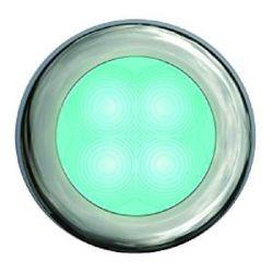 SlimLine LED Round Lamp - Cyan Lamp, Chrome Trim