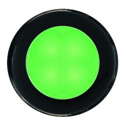 SlimLine LED Round Lamp - Green Lamp, Black Trim