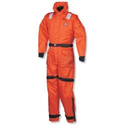 DLX ANTI-EXPOSURE WORKSUIT BLK/ORG MED