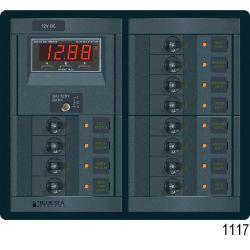 360 Panel System 120V AC Main /12V DC Circuit Breakers, AC 6 x 15A - DC 16 x 15A