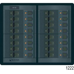 360 Panel System DC Breakers No Meters - 12 Positions, Rocker