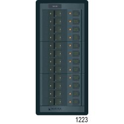 360 Panel Systems DC - 8 Positions with Analog Amp & Voltmeters - 15 A