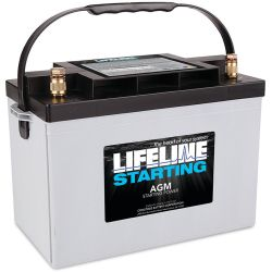 12V Group 27 AGM Starting Battery - 745 CCA