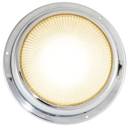 6-3/4IN LED DOME LIGHT CHROME WHT