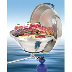 Marine Kettle Gas Grill with Hinged Lid - 17 in