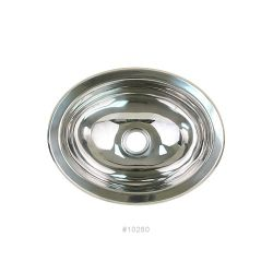 "Oval Basin with Mirror Finish - 13-1/4"" x 10-1/2"""